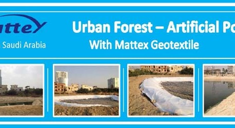 Urban Forest Lake with Mattex Geotextile