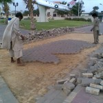 B-Removing Damaged Paver at PF Museum 17 Aug 11-A