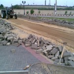 L-Removing Damaged Paver at PF Museum 17 Aug 11