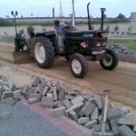 M-Prepearing surface for laying GT by Tractor at PF Museum 1
