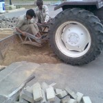 N Prepearing surface for laying GT by Tractor at PF Museum 1