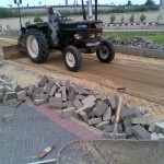N-Removing Damaged Paver at PF Museum 17 Aug 11