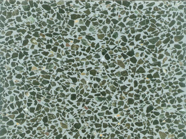 Dark Green Terrazzo Tile Large Chips