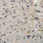 Grey Base Terrazzo Tile (Brown And Black Chips)