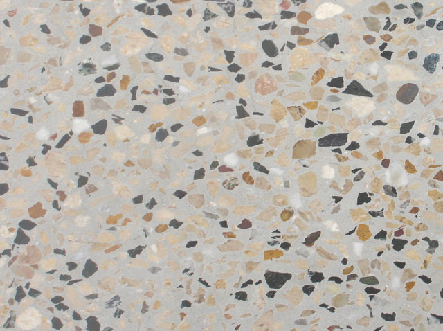 Grey Base Terrazzo Tile Brown And Black Chips