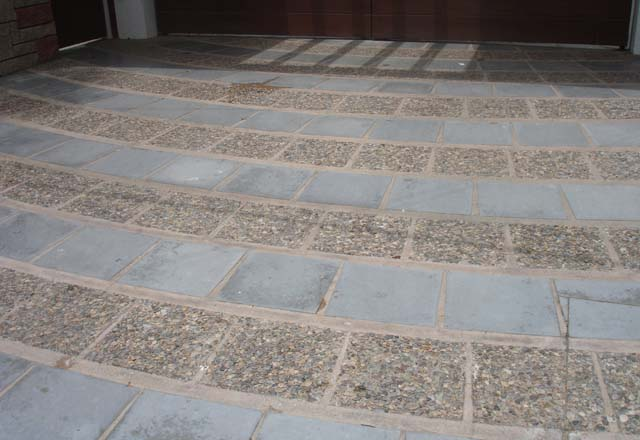 Private residence i matrixx for Tile driveway
