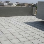 Roof Insulation Tiles in Residence at DHA Karachi