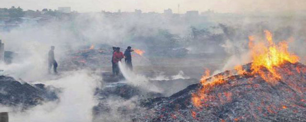 Fearsome Fire Godown Reduced to Ashes